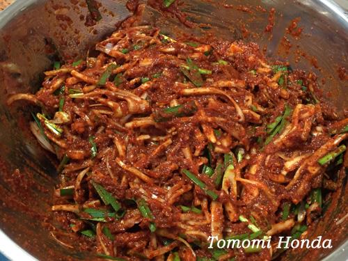 白菜キムチ 韓国料理教室