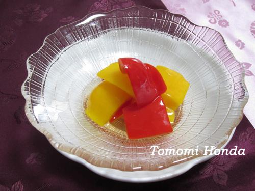パプリカの酢じょうゆ漬け(パプリカチャンアチ) ナスラックキッチン