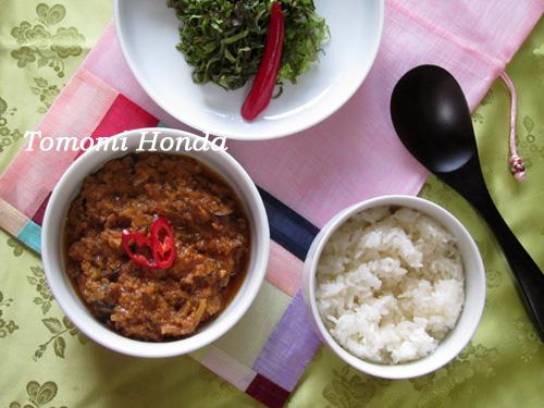 ナスラックキッチン 肉味噌ビビンバ