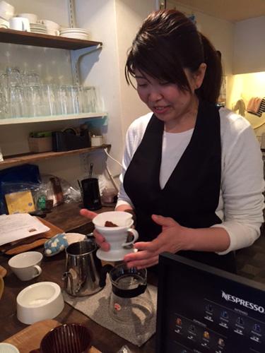 野原由美先生 バレンタインコーヒー教室